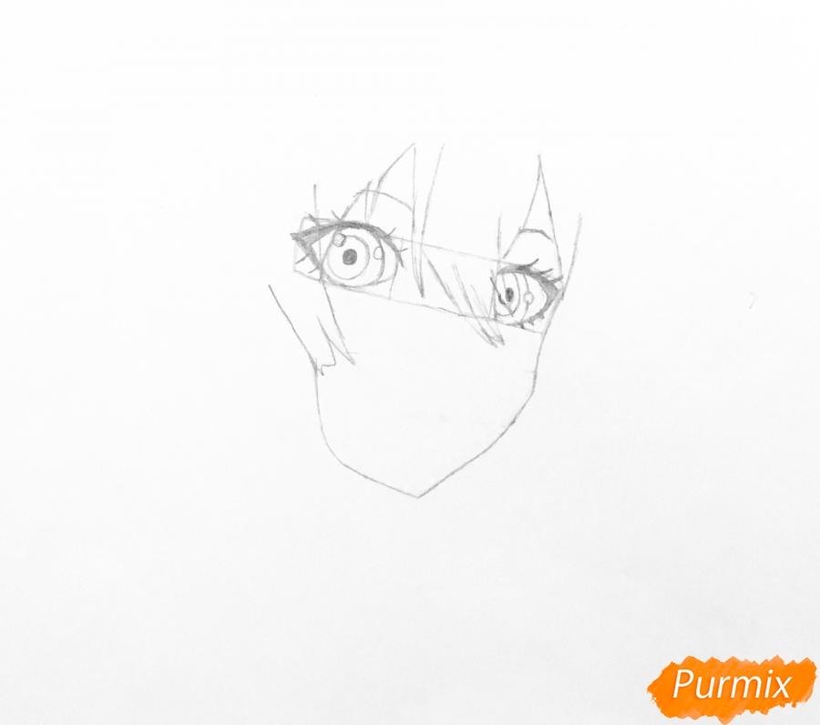 Рисуем портрет Вайолет Эвергарден из аниме Вайолет Эвергарден - шаг 2
