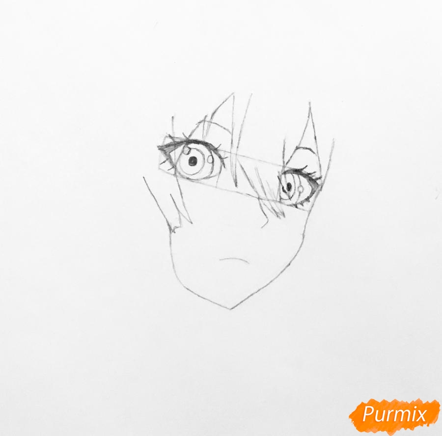 Рисуем портрет Вайолет Эвергарден из аниме Вайолет Эвергарден - шаг 3