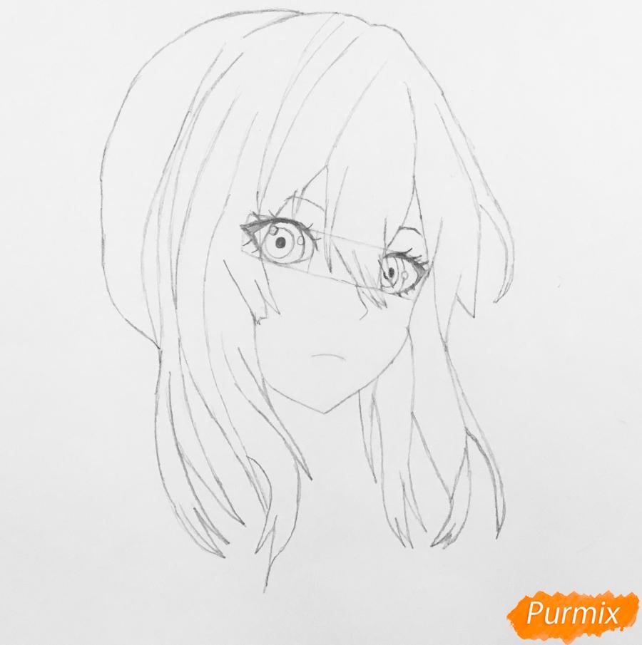 Рисуем портрет Вайолет Эвергарден из аниме Вайолет Эвергарден - шаг 5
