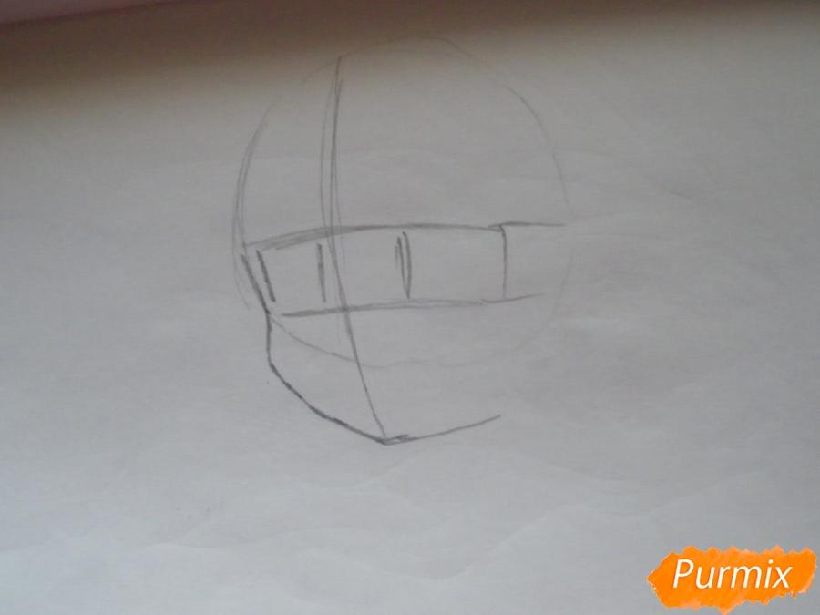 Рисуем вокалоида Хатсуне Мику за стеклом фломастерами - шаг 1