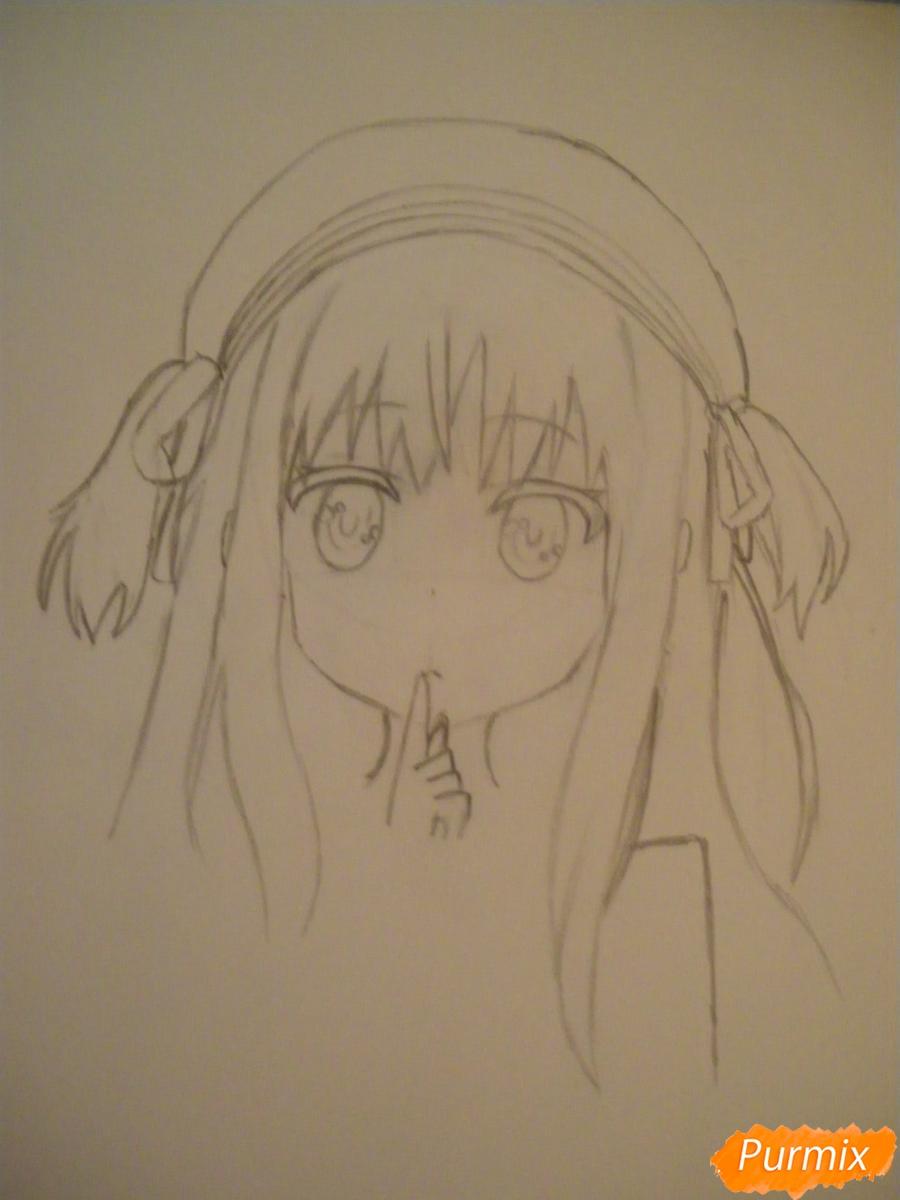 Рисуем и раскрасить вокалоида Самура Кохаи - фото 4