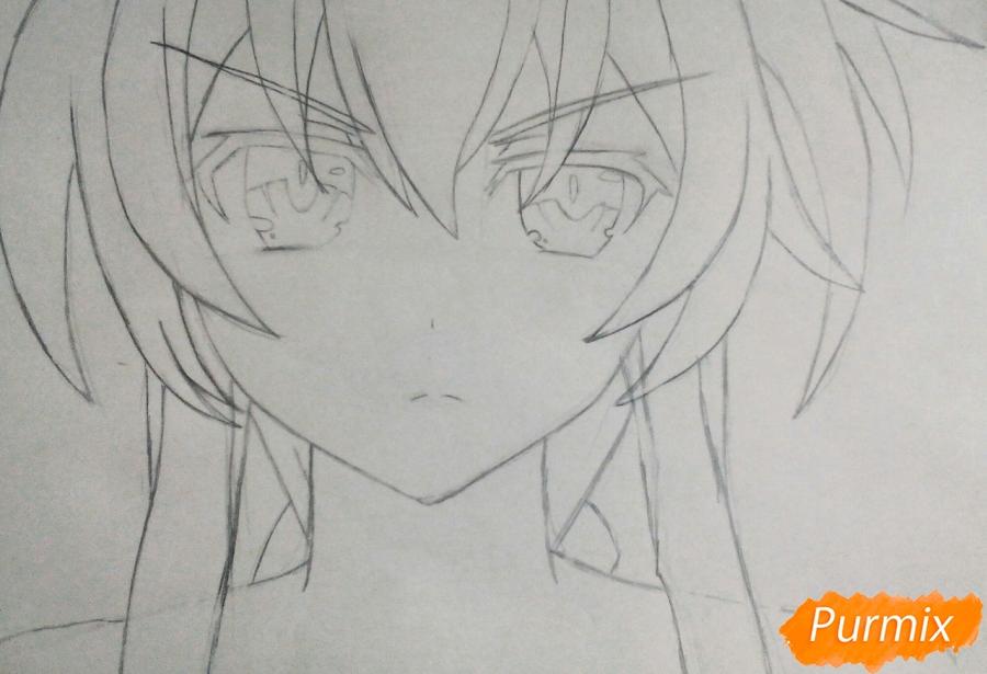 Рисуем Юзуру Ямай из аниме Рандеву с жизнью - фото 3