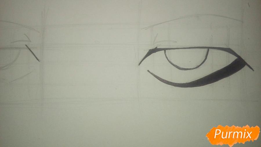 Как научиться рисовать аниме глаза - шаг 10