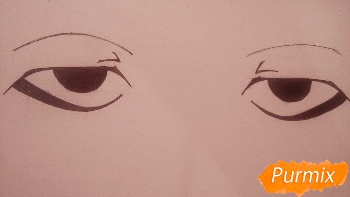 Как научиться рисовать аниме глаза - шаг 11