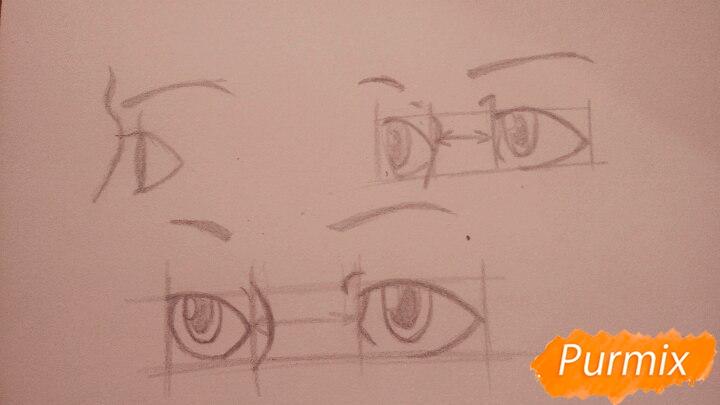 Как научиться рисовать аниме глаза - шаг 2
