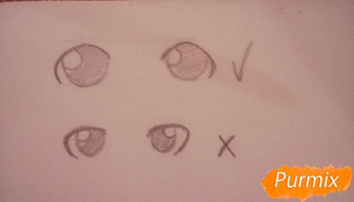Как научиться рисовать аниме глаза - шаг 3