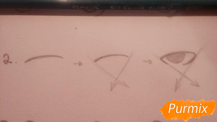 Как научиться рисовать аниме глаза - шаг 5