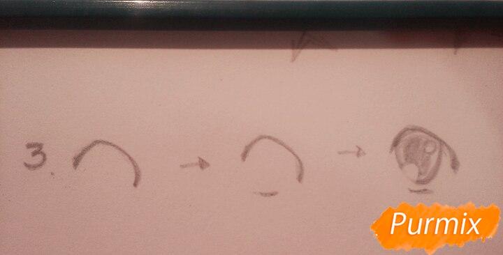 Как научиться рисовать аниме глаза - шаг 6