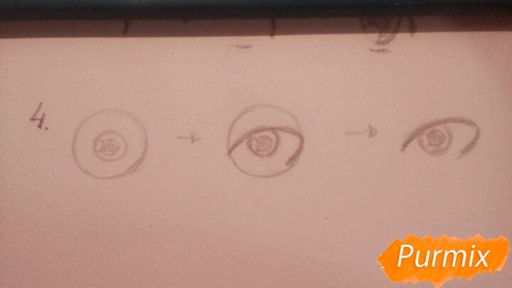 Как научиться рисовать аниме глаза - шаг 7
