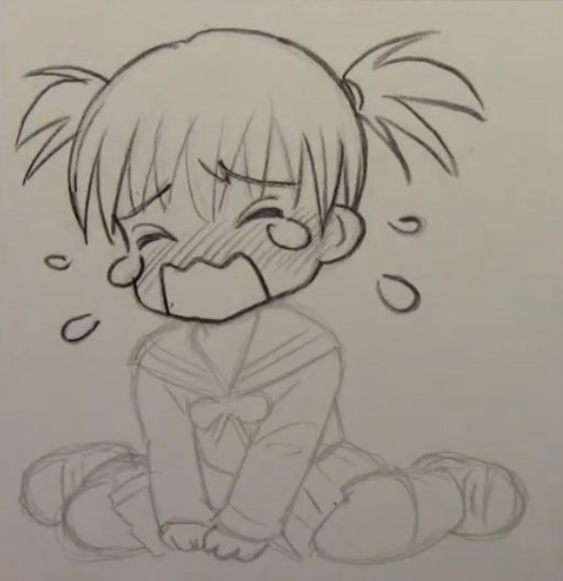 Как рисовать в стиле Чиби(Chibi) плач, слезы