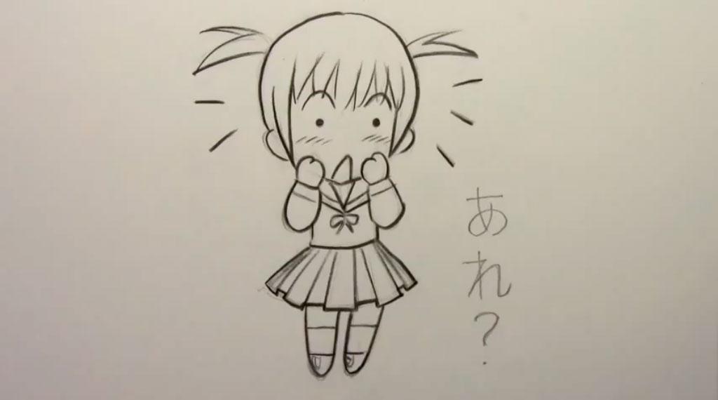 how to draw chibi prson