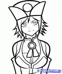 Juvia из Fairy Tail карандашом