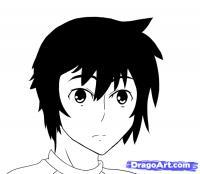 Minato из манги Sekirei карандашом