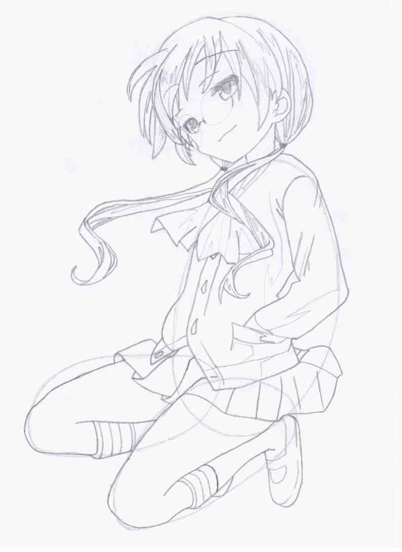 Как нарисовать Наги из аниме