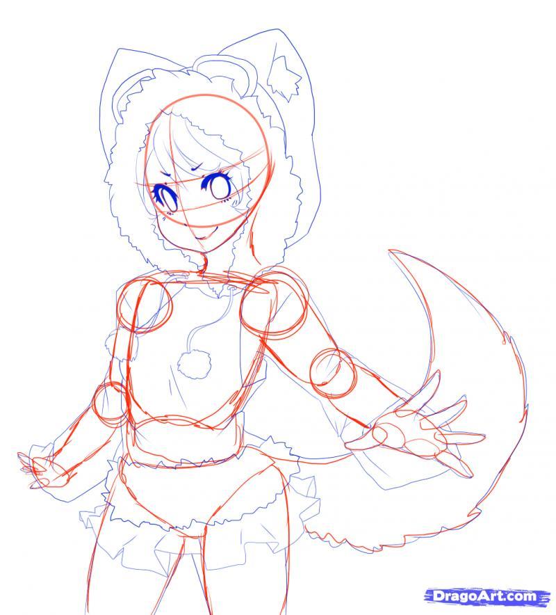 Рисуем Neko в снегу - шаг 14