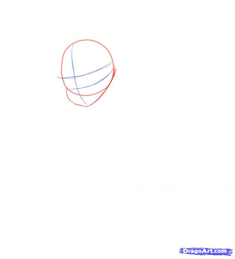 Рисуем Neko в снегу - шаг 3