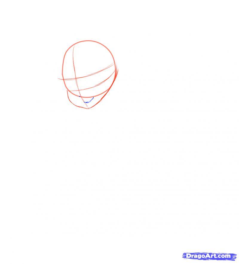 Рисуем Neko в снегу - шаг 4