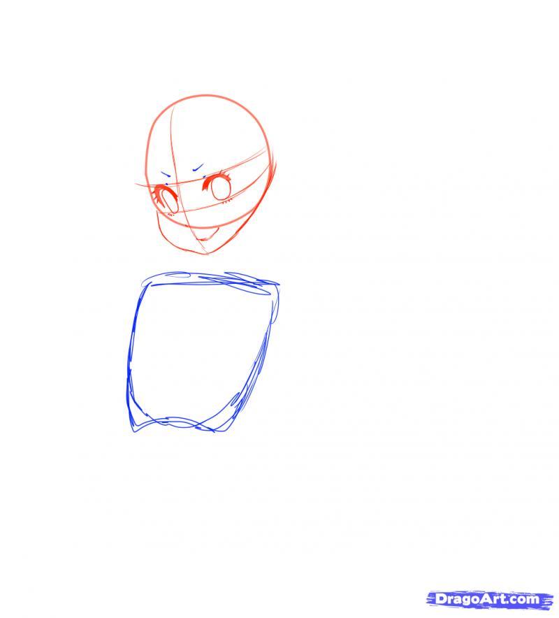 Рисуем Neko в снегу - шаг 7