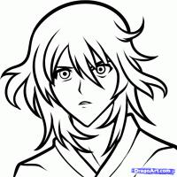 Yuuki Natsuno из Усопшие (Shiki) карандашом