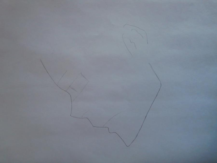Рисуем Занзаса из аниме Реборн карандашами - шаг 1