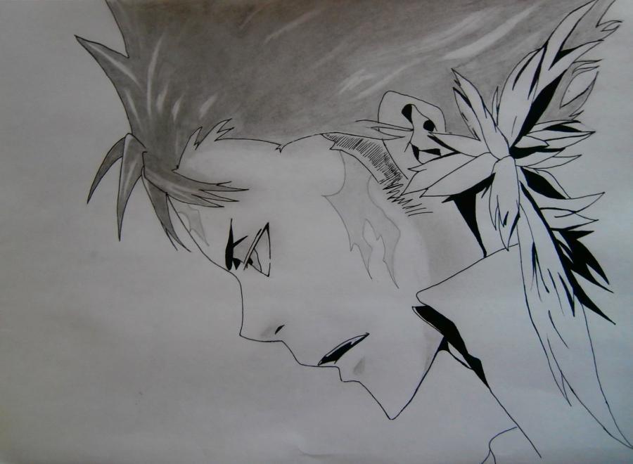 Как нарисовать Занзаса из аниме Реборн карандашами поэтапно