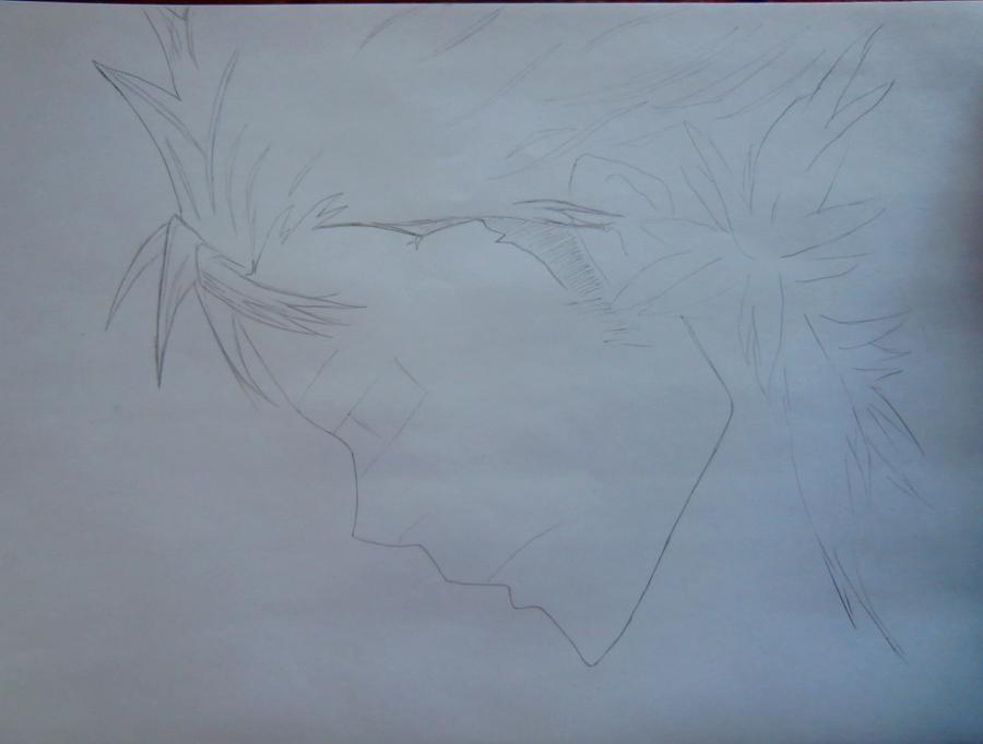 Рисуем Занзаса из аниме Реборн карандашами - шаг 2