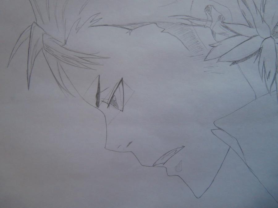 Рисуем Занзаса из аниме Реборн карандашами - шаг 4
