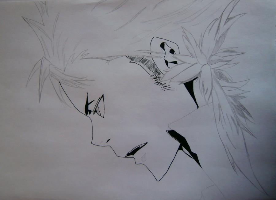 Рисуем Занзаса из аниме Реборн карандашами - шаг 5