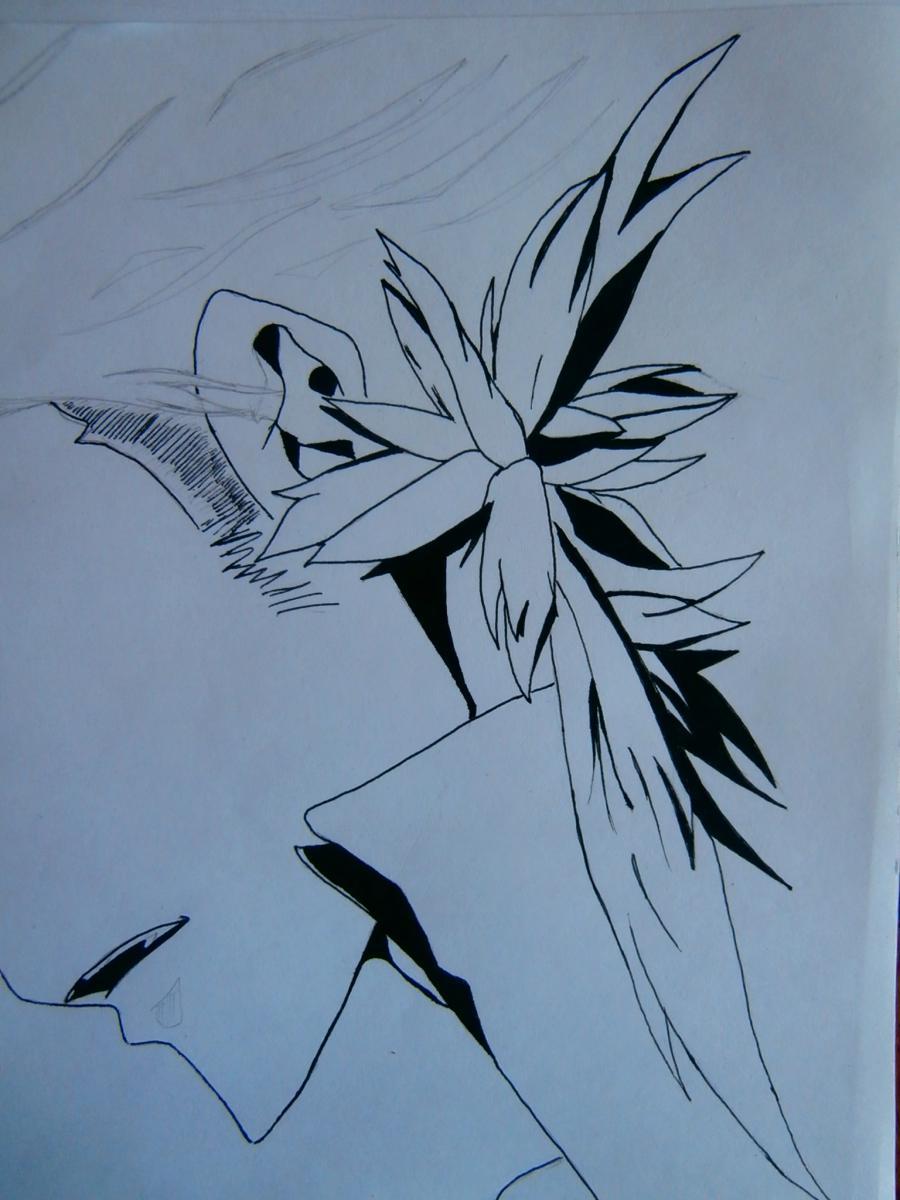 Рисуем Занзаса из аниме Реборн карандашами - фото 6