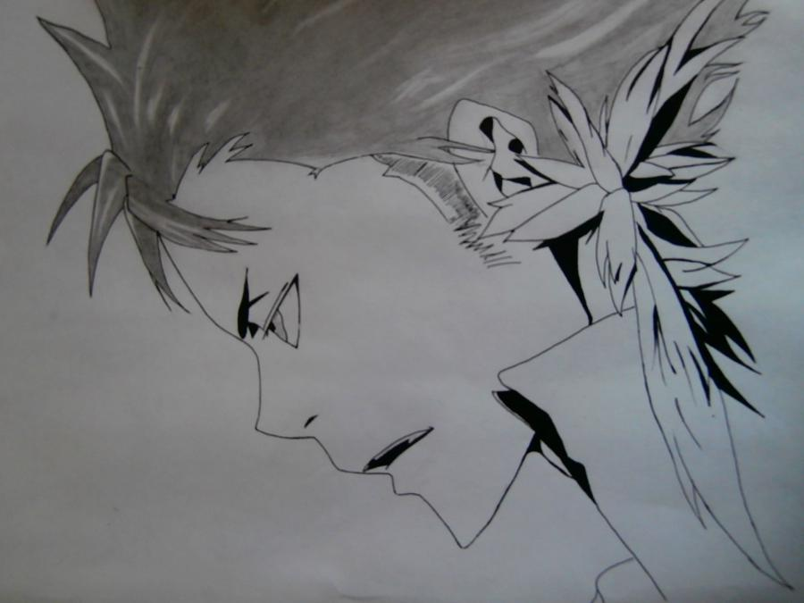 Рисуем Занзаса из аниме Реборн карандашами - шаг 7