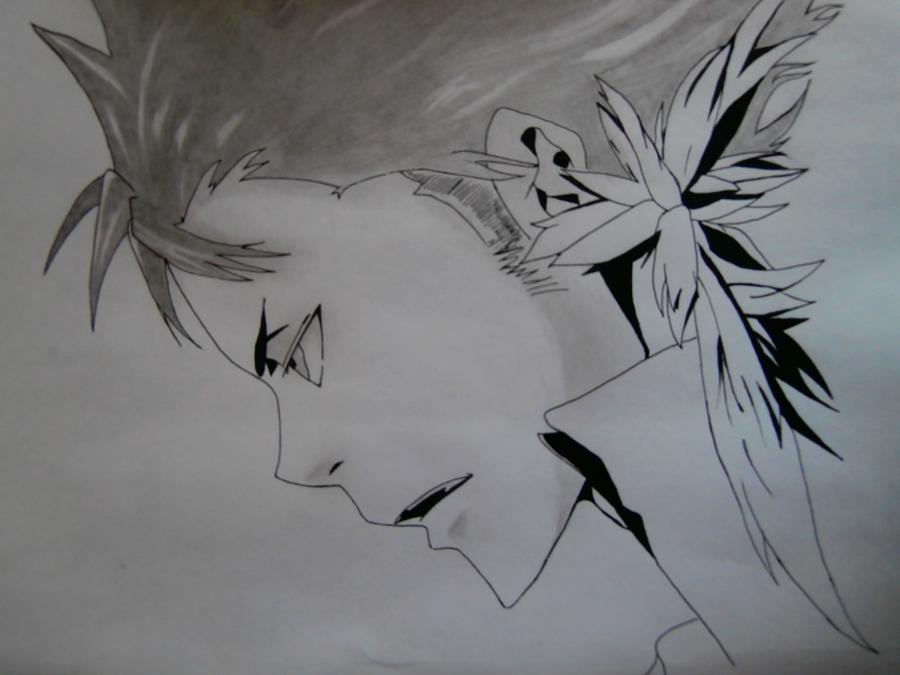 Рисуем Занзаса из аниме Реборн карандашами - шаг 8