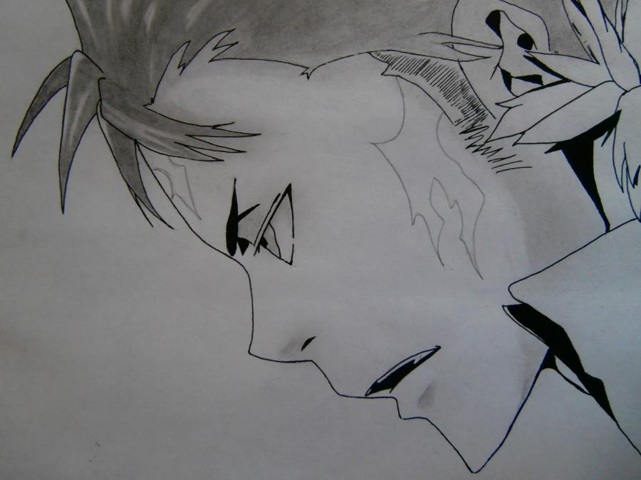 Рисуем Занзаса из аниме Реборн карандашами - шаг 9
