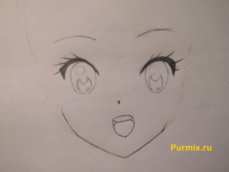 Как нарисовать Адзусу Накано из аниме K-on карандашом