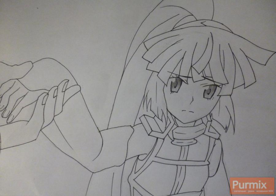 Рисуем Акацуки из аниме Лог Горизонт