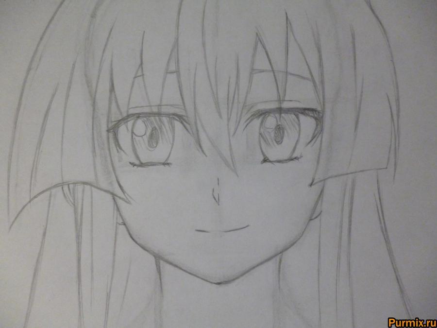 Рисуем Акаме простым на бумаге