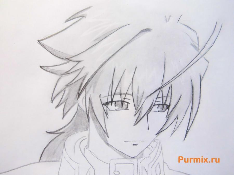Рисуем Акира Никайдо из аниме Монохромный фактор