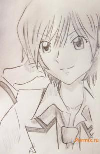 Акира Тодо из аниме Спецкласс «А» карандашом