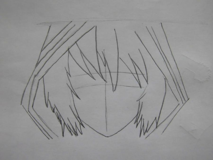 Рисуем Аллена Уолкера из аниме Ди.Грей - мен карандашами - шаг 2