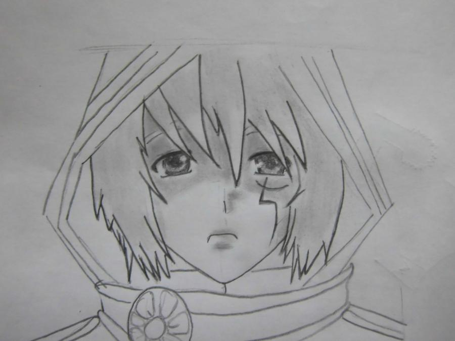 Рисуем Аллена Уолкера из аниме Ди.Грей - мен карандашами - шаг 6