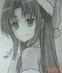 Фото Ами Кавасиму из аниме Торадора карандашом