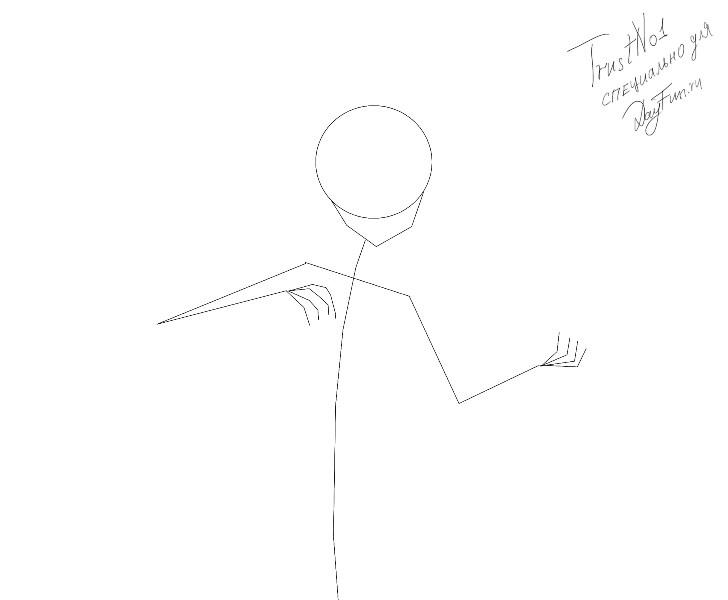 Рисуем аниме девушку ангела карандашами - шаг 1