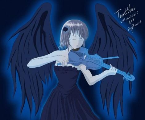 Ангел девочка рисунок