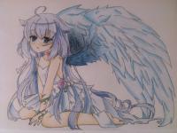 Рисунок аниме ангела с ушками простым