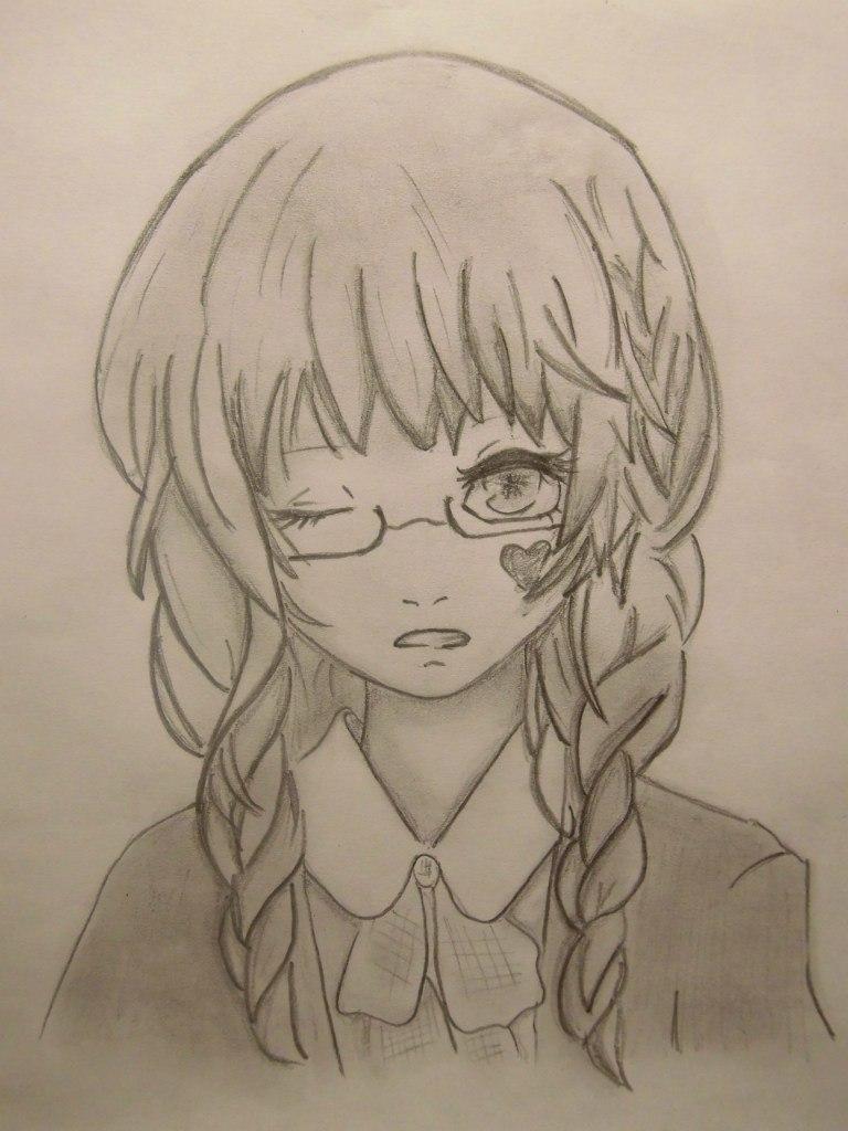 Картинки няшные аниме девушки