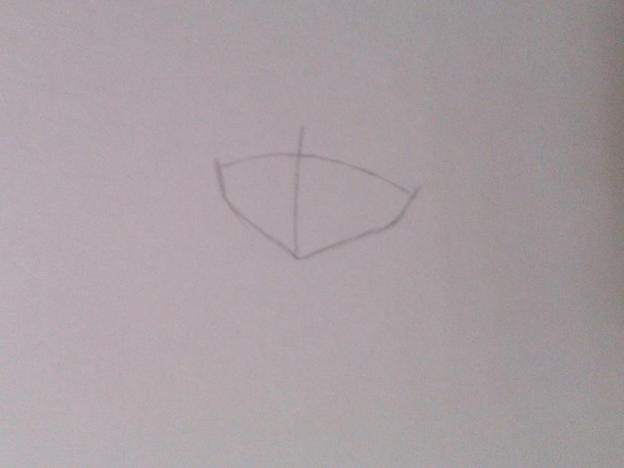 Как нарисовать аниме девочку эльфа карандашом поэтапно - шаг 1
