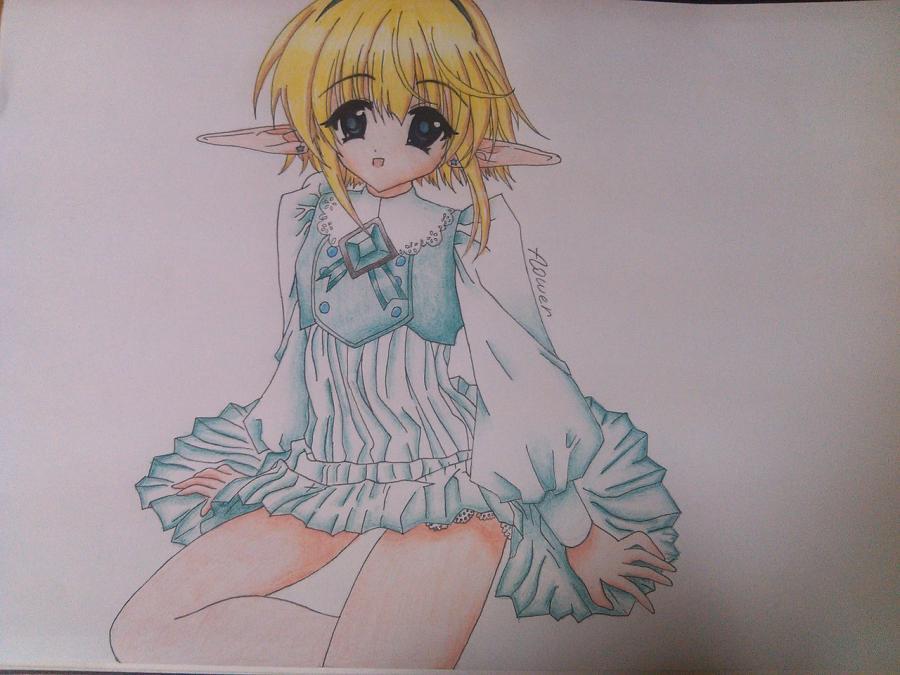 Как нарисовать аниме девочку эльфа карандашом поэтапно - шаг 11