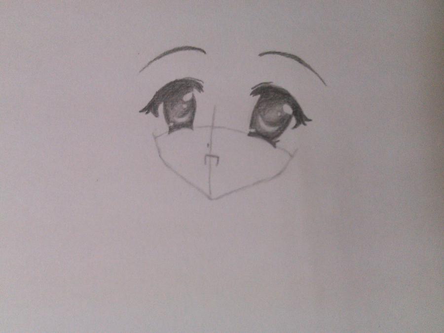 Как нарисовать аниме девочку эльфа карандашом поэтапно - шаг 2