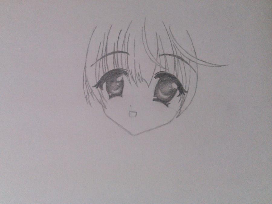 Как нарисовать аниме девочку эльфа карандашом поэтапно - шаг 3