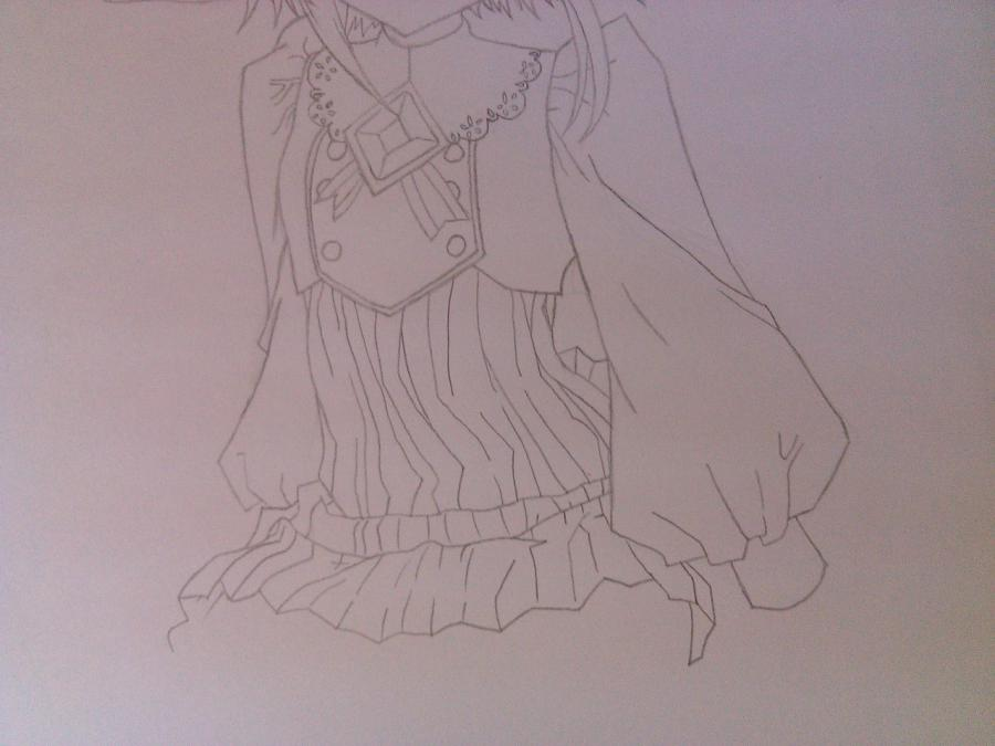 Как нарисовать аниме девочку эльфа карандашом поэтапно - шаг 7