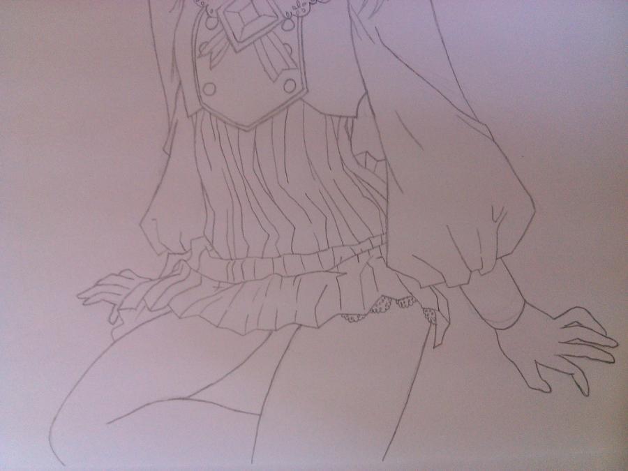 Как нарисовать аниме девочку эльфа карандашом поэтапно - шаг 8